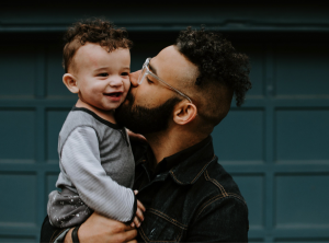 Cool dude with child