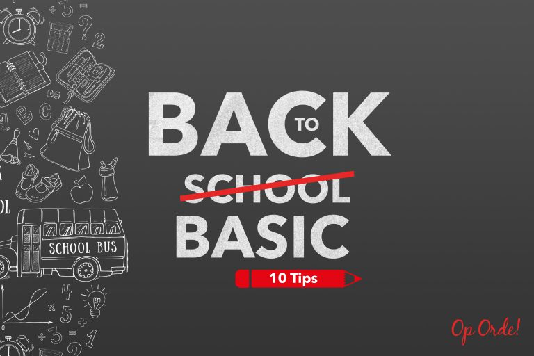 Back to school? Back to basic!