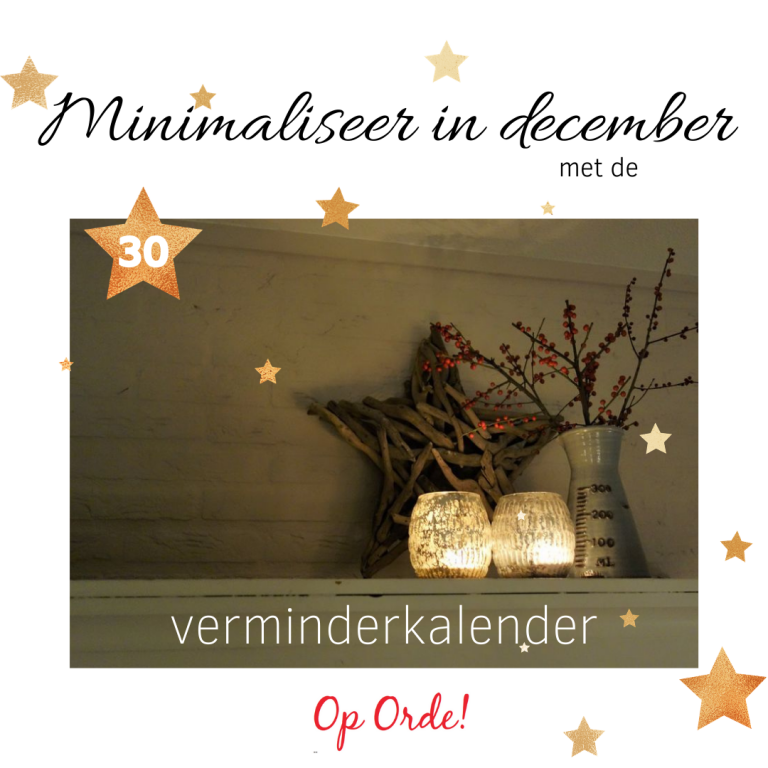 Minimaliseer in december (30)