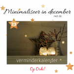 Minimaliseren in december (23)
