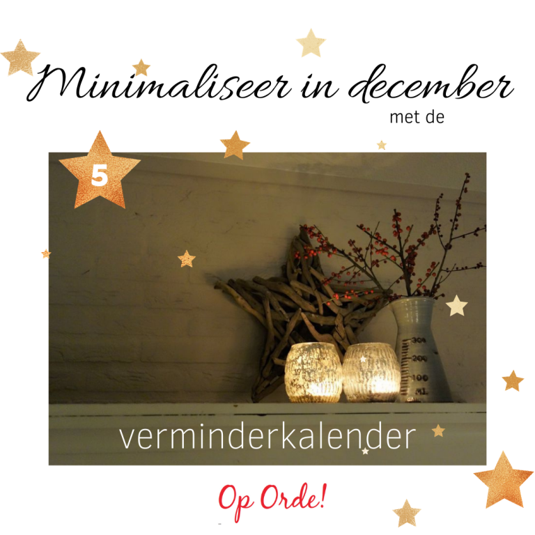 Minimaliseer in december (5)