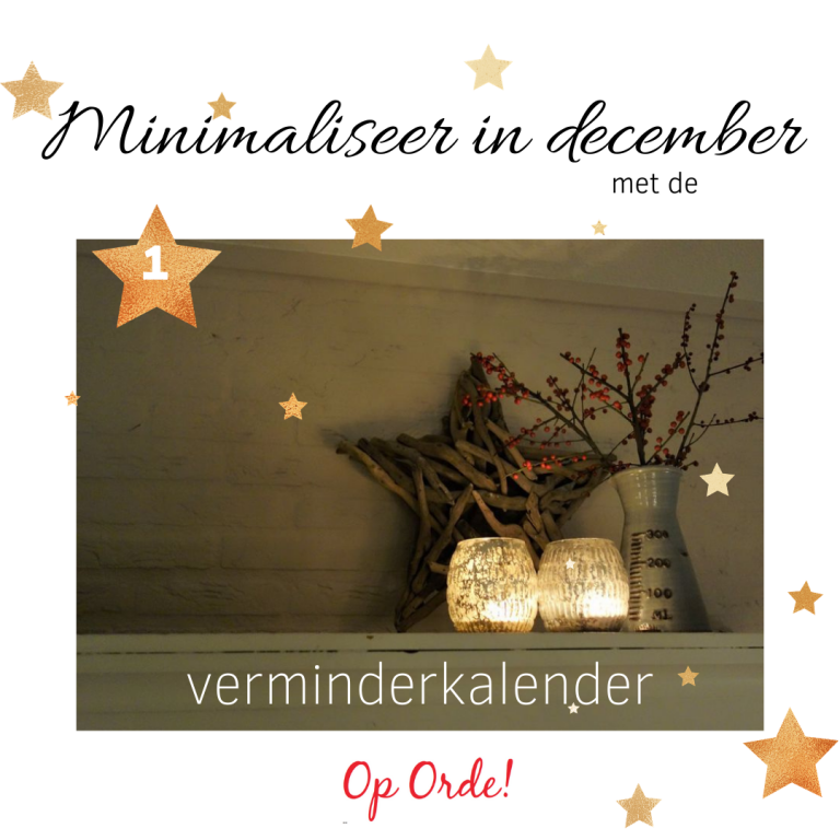 Minimaliseer in december
