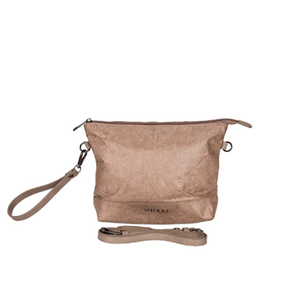 Malique Tyvek clutch/crossover taupe